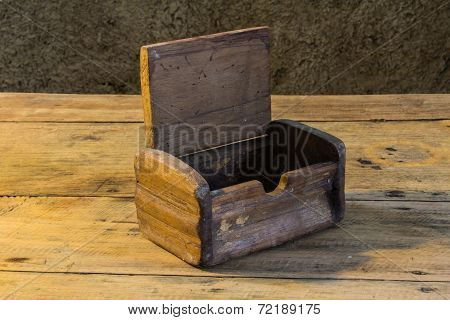 Old Chest On Wooden Table Still Life
