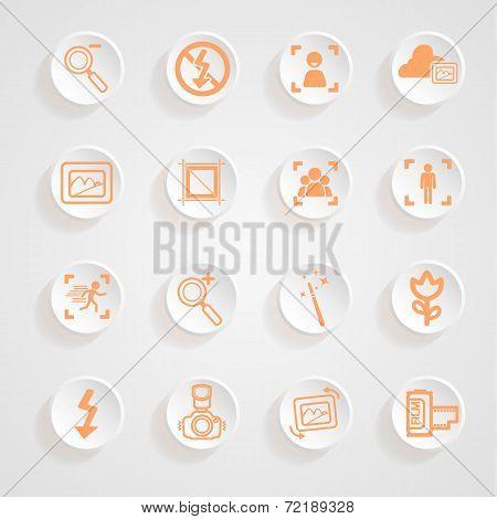 Camera Functions Menu Icons Set