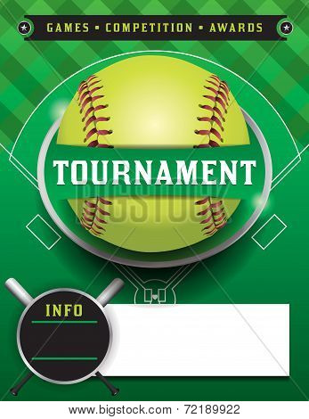 Softball Tournament Template Illustration
