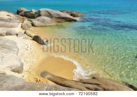 Small deserted sandy beach