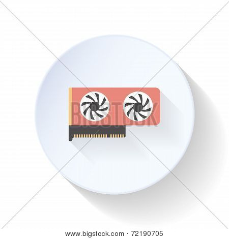 Video Card Flat Icon
