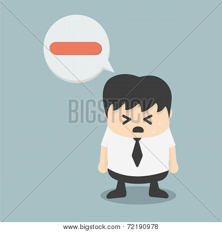 Negative Businessman