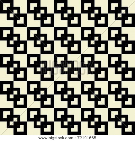 Retro seamless pattern with squares shapes.