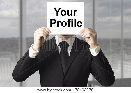 Businessman Hiding Face Your Profile