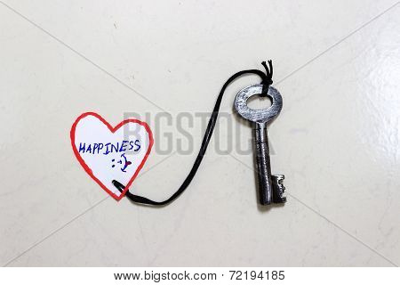 Key to Happiness - Conceptual Photo