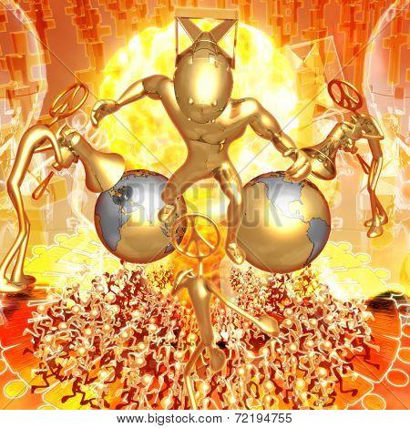 3D Nuclear Armageddon Concept