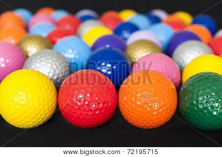 Assorted Mini Golf Balls