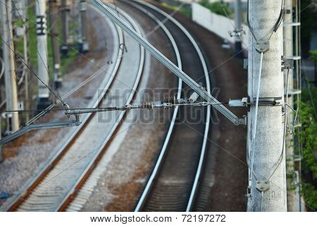 catenary of electrified railway