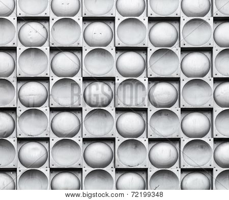 Abstract Background Texture, Gray Wall With Steel Tiling Pattern