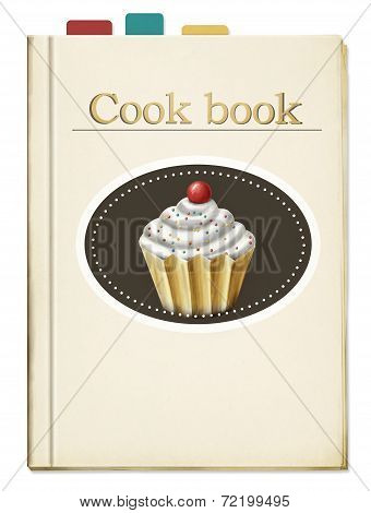 painted cookbook with bookmarks