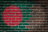 image of bangladesh  - Dark brick wall texture  - JPG