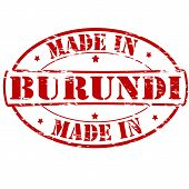 picture of burundi  - Rubber stamp with text made in Burundi inside vector illustration - JPG