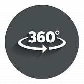 pic of degree  - Angle 360 degrees sign icon - JPG
