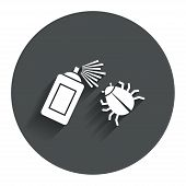 stock photo of mites  - Bug disinfection sign icon - JPG