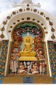 stock photo of jammu kashmir  - Detail of Tall Shanti Stupa near Leh  - JPG
