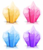 image of minerals  - Illustration of a set of glossy and bright cartoon gems stones diamonds minerals and jewels - JPG