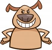 image of maliciousness  - Cartoon Illustration of Funny Dog Expressing Cruel or Malicious Mood or Emotion - JPG