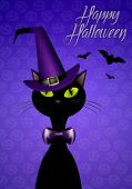 image of happy halloween  - illustration of Black cat for Happy Halloween - JPG
