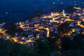 picture of andes  - High view of the small town of Zaruma at nightime - JPG