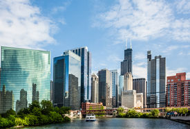 foto of willy  - West Wacker Drive Skyline in Chicago as seen from the city river - JPG