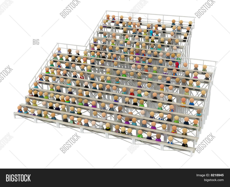Imagen y foto multitud de dibujos animados bigstock for Imagenes de gradas