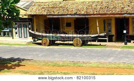 Boat on wheels, Galle, Sri Lanka