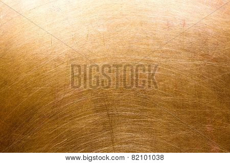 Scratched Brass Metal Surface