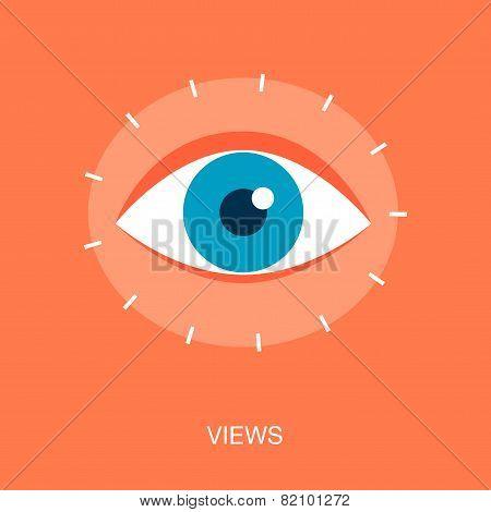Concept Of Website Or Social Media Profile Views