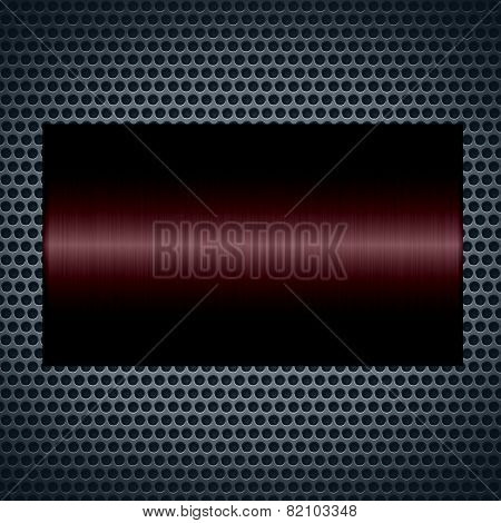 Brown metallic texture with holes metal plate background