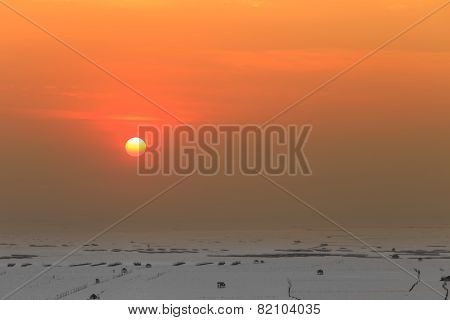 Sunset Over Shore And Shell Farm