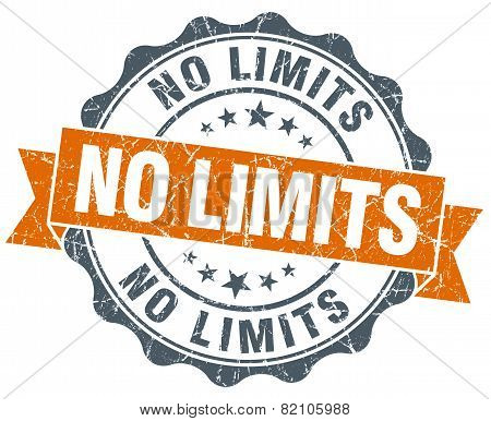No Limits Vintage Orange Seal Isolated On White