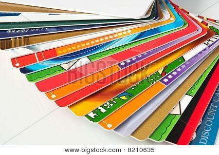 Cartão presente e cartões de crédito