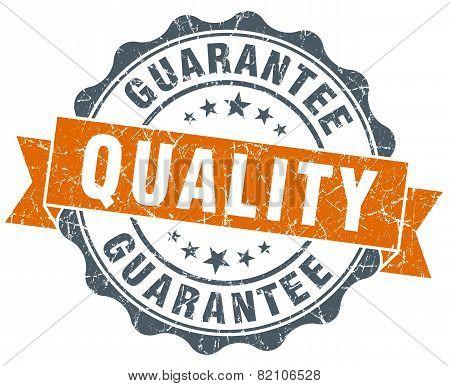 Quality Guarantee Vintage Orange Seal Isolated On White