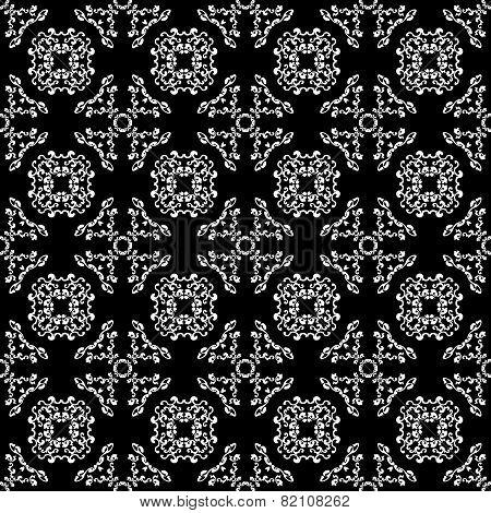 Seamless vintage black-and-white pattern