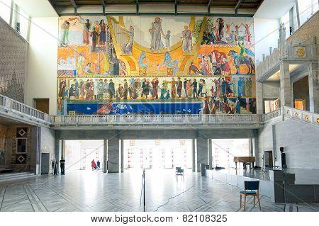 Oslo. Norway. The City Hall interior