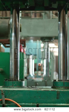 Hydraulic press at factory