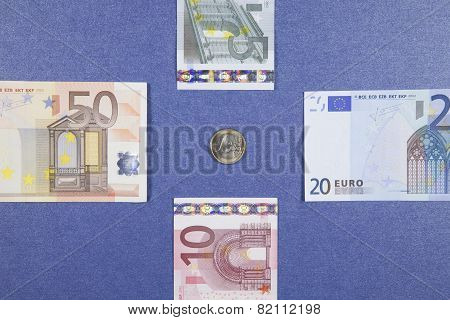 Euro Coin And Banknotes