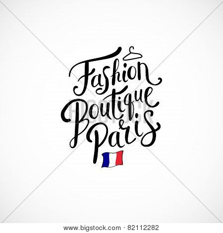 Fashion Boutique Paris Concept on White Background
