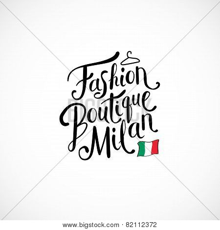 Fashion Boutique Milan Concept on White