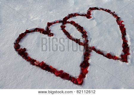 Two Hearts On The Snow