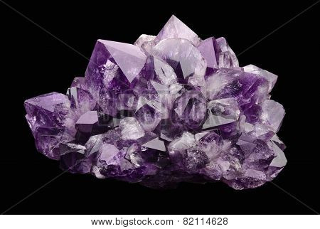 Amethyst over Black Background