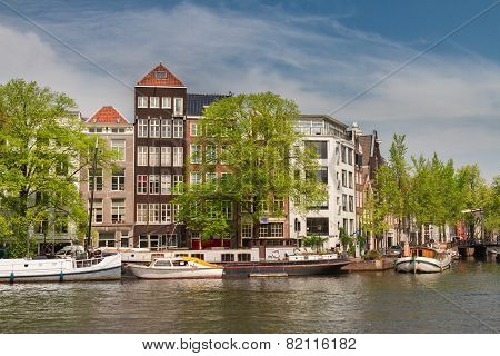 Amstel riverbank,  Amsterdam