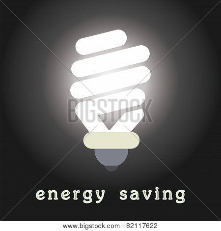Vector Symbol Of Energy Saving Lamp