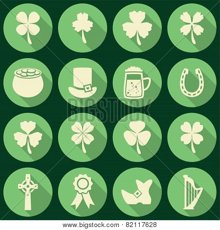 Vector Set Of Irish St. Patrick's Day Icons