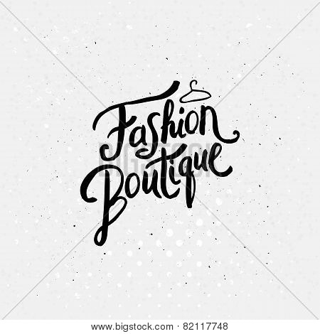 Fashion Boutique Concept Graphic Design