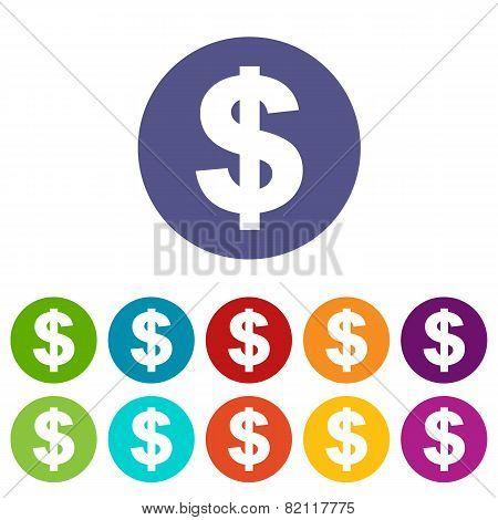 Dollar flat icon
