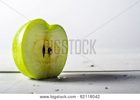 Juicy Slice Of Granny Smith Apple