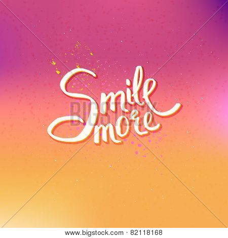 Glowing Text Design for Smile More Concept