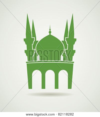 Vector Islamic Mosque Icon Or Symbol