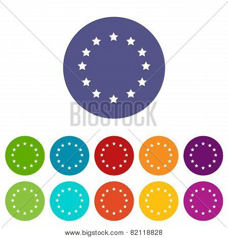 European Union flat icon